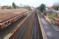 Hall Green station from footbridge