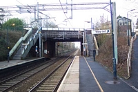 Hampton-in-Arden station footbridge and High Street bridge