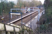 Hampton-in-Arden station from High Street bridge