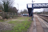 Hatton station building remains, Leamington platform