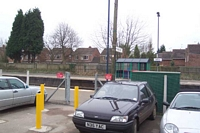 Hatton station entrance from car park
