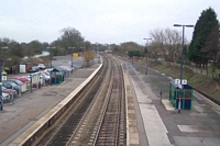 Hatton station view from footbridge