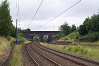 The Hawthorns station Middlemore Road bridge