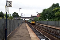The Hawthorns station platform 2 looking towards Birmingham