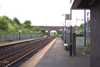 The Hawthorns station platform 2 looking towards Smethwick