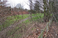 Icknield Port Road station site from road bridge