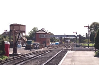Two signal boxes at Kidderminster station
