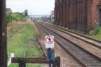 Kidderminster station buffer stops