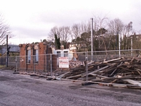 Demolition in progress of the original Kings Norton station building
