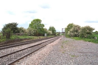 Kingsbury station looking towards Wilnecote