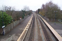 Lapworth station towards Leaminton Spa from footbridge
