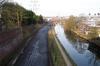 Lifford wharf trackbed to City from Pershore Road