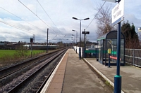 Lichfield Trent Valley station platform 3 looking to Birmingham