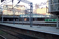 Across the platforms at New Street station from 12b