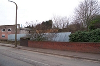 Oldbury Town station branch overbridge remains, Seven Stars
