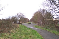 Pelsall station site towards Walsall and Vicarage Road bridge