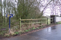 Penn halt entrance from Greyhound Lane