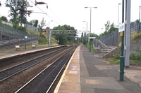 Perry Barr station looking towards Walsall