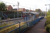 Priestfield Midland Metro stop from entrance pathway