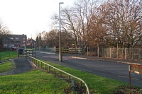 Priestfield station site from Sidwick Crescent bridge