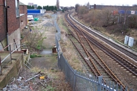 Rood End station site to rear, looking towards Smethwick