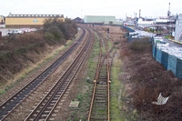 Rood End station site from Rood End Road