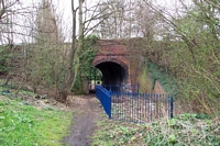 Rotton Park Road station Selwyn Road bridge