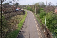 View from Halesowen Railway footbridge towards Rubery station