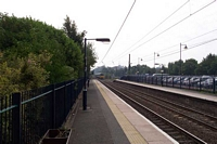 Selly Oak station looking towards Bournville