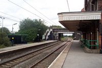 Shenstone station looking towards Lichfield