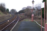 Shirley station old good sidings