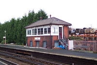 Shirley station signal box, Stratford-upon-Avon platform