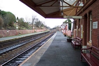 Shirley station looking towards Birmingham