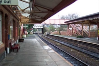 Shirley station looking towards Straford-upon-Avon