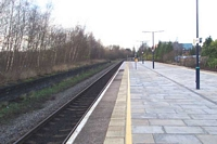 Solihull station disused island platform