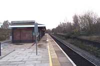 Solihull station looking towards Leamington Spa