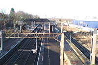 Stechford station site viewed from Station Road bridge