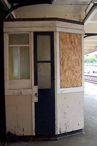 Sutton Coldfield station disused ticket booth