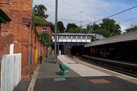 Sutton Coldfield station building and footbridge