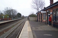 Warwick station looking towards Leamington Spa
