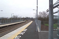Warwick Parkway station looking towards Leamington Spa