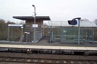 Warwick Parkway station Leamington Spa platform and lift
