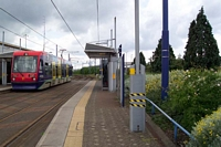 Wednesbury Central station siteg looking towards Wolverhampton