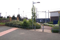 Entrance to Wednesbury Central station site, Great Western Street
