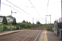 Wednesbury Central station site looking towards Birmingham