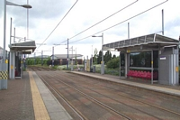 Wednesbury Central station site looking towards Wolverhampton