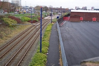 West Bromwich station and goods yard site from Lyng Lane bridge