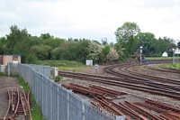 Whitacre station looking towards Nuneaton