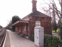Wilmcote station waiting room