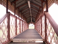 Inside the footbridge at Wilmcote station